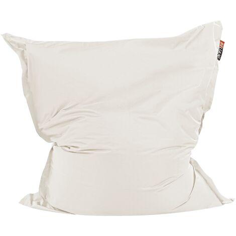 Modern Light Beige Bean Bag Large Nylon Zipper Living Room Bedroom Garden