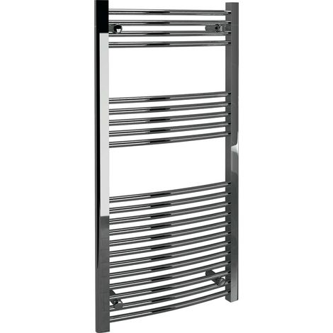 Modern Living Bathrooms - Curved Towel Warmer 600 x 1200 x 22mm - Chrome