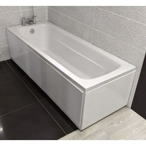 Modern Living Bathrooms - Lux8 180 x 80 Reinforced Bath with MDF Front Panel & Waste - White