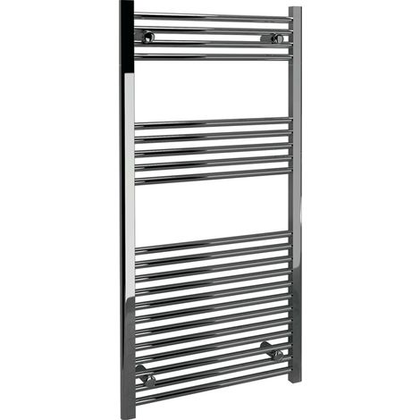 Modern Living Bathrooms - Straight Towel Warmer 600 x 1200 x 22mm - Chrome