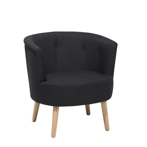 """main image of """"Modern Low Back Fabric Tub Accent Chair Living Room Black Odenzen"""""""