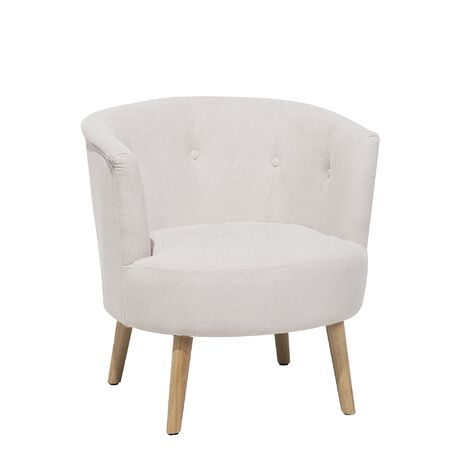 """main image of """"Modern Low Back Fabric Tub Accent Chair Living Room Off-White Odenzen"""""""