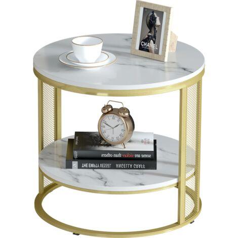 "main image of ""Modern Marble Coffee Table Side Shelf End Sofa Table Nightstand Living Room Home"""