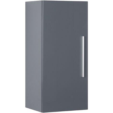 Modern Minimalist Wall Cabinet Grey 3 Shelves Storage Cupboard Bilbao