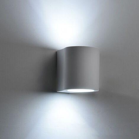 Modern Minimalist Wall Lamp Plaster Wall Lamp Creative Column Wall Light 5w Cool White for Hallway Stairs Hotel Bedside Living Room