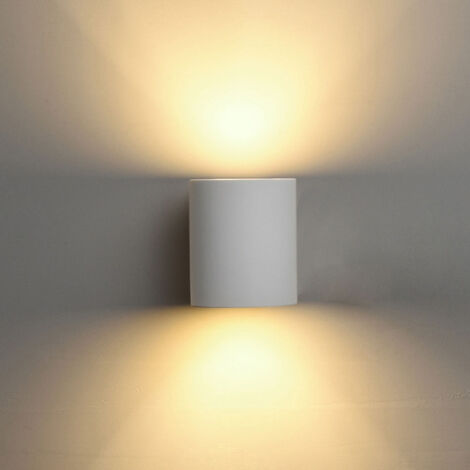 Modern Minimalist Wall Lamp Plaster Wall Lamp Creative Column Wall Light 5w Warm White for Hallway Stairs Hotel Bedside Living Room