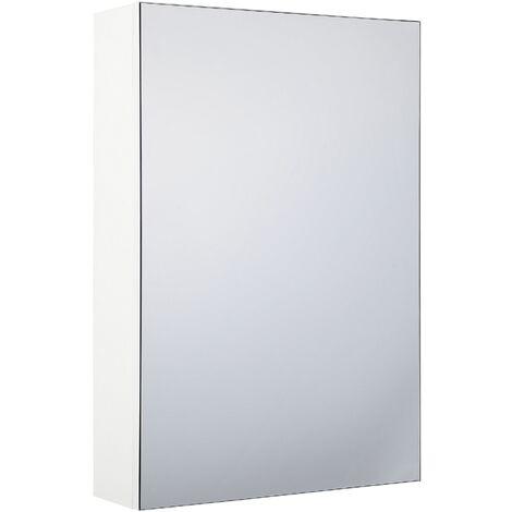 Modern Minimalist Wall Mirror Cabinet White Storage Cupboard Primavera
