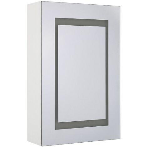 Modern Minimalist Wall Mirror Cabinet with LED White Storage Cupboard Malaspina