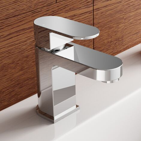 """main image of """"Modern Mono Mixer Tap with Basin Waste Chrome"""""""