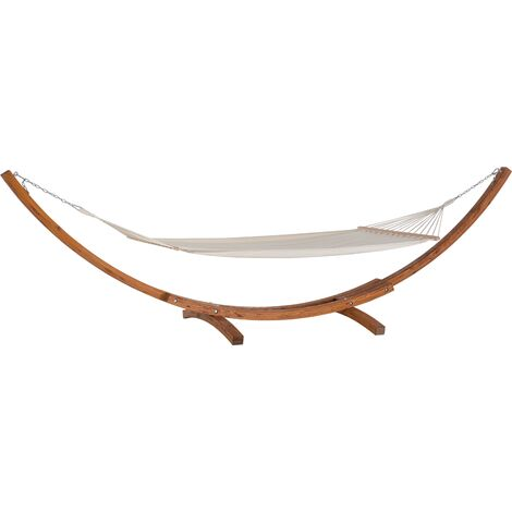 Modern Outdoor Garden Hammock Cotton Solid Wood Arched Base Treviso