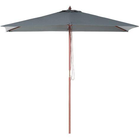 Modern Outdoor Garden Market Parasol Grey Polyester Canopy Flamenco