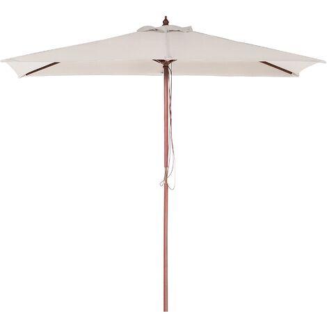 Modern Outdoor Garden Market Parasol Light Beige Polyester Canopy Flamenco