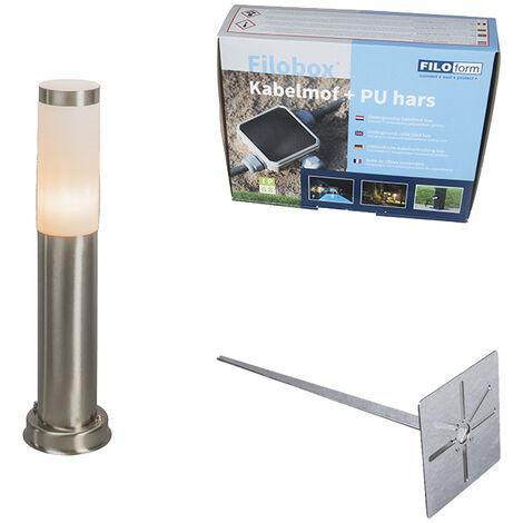 Modern outdoor lamp pole steel 45 cm IP44 - Rox