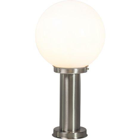 Modern outdoor lamp pole steel stainless steel 50 cm - Sfera