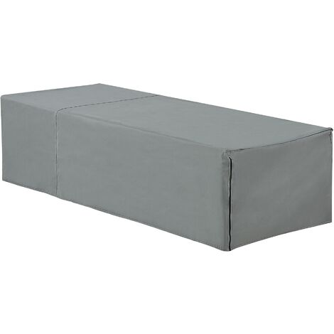 Modern Outdoor Lounger Furniture Rain Cover Grey PVC Coated Polyester Perugia