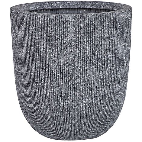 """main image of """"Modern Outdoor Plant Pot Planter Tall Round 33 x ø 31 cm Grey Chios"""""""