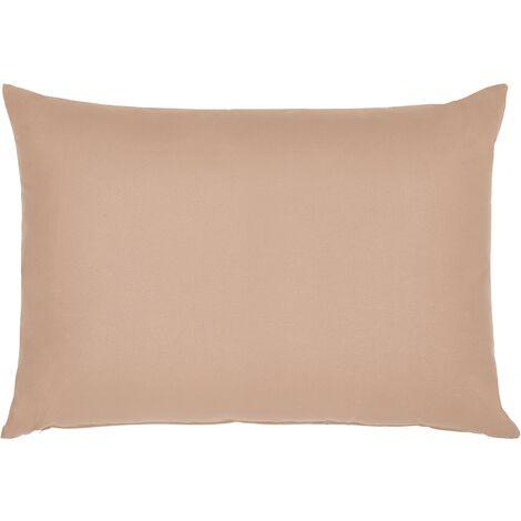 Modern Outdoor Scatter Pillow Sand Beige Polyester Cover Zippered 50 x 70 cm Garden Patio