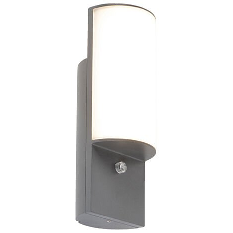 Modern Outdoor Wall Lamp Dark Grey incl. LED - Harry