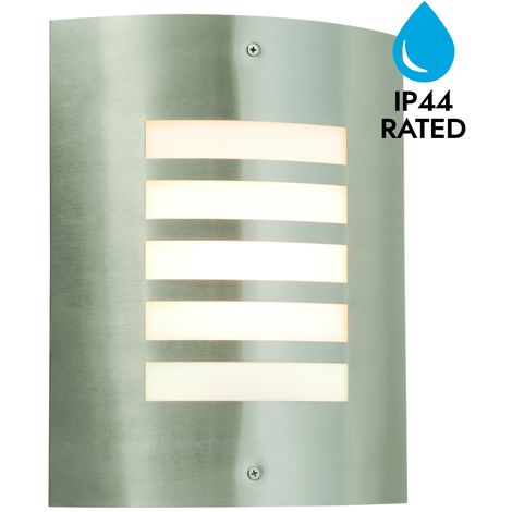 Modern Outdoor Wall Light Stainless Steel Garden Porch IP44 Rated