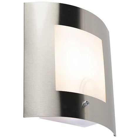 Modern outdoor wall light steel motion sensor IP44 - Emmerald 1