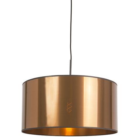 Modern Pendant Lamp Black with 50cm Copper Shade - Combi 1