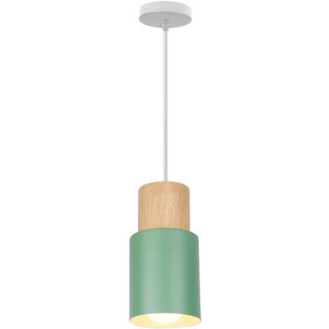 Modern Pendant Light Minimalist Hanging Light Retro Ceiling Lamp Wood Ceiling Light Vintage Pendant Lamp Green