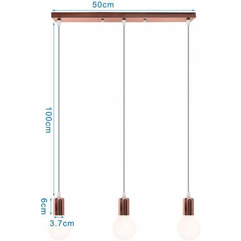 "main image of ""Modern Pendant Lighting Ceiling Metal 3 Lights Chandelier Fittings Hanging Lamp Fixture, Black"""
