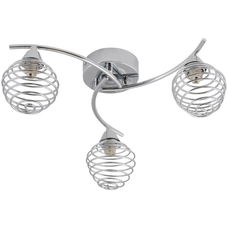 Image of 3 Light Swirl Twist Fitting with Metal Spiral Shades - FIRST CHOICE LIGHTING