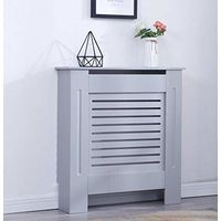 Modern Radiator Cover Wood MDF Wall Cabinet Grey-Size S