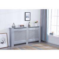 Modern Radiator Cover Wood MDF Wall Cabinet Grey-Size XL