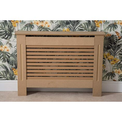 Modern Radiator Cover Wood MDF Wall Cabinet Natural Unpainted-Size M