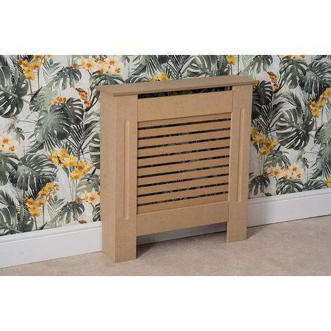Modern Radiator Cover Wood MDF Wall Cabinet Natural Unpainted-Size S