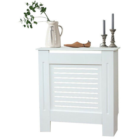 Modern Radiator Cover Wood MDF Wall Cabinet White-Size S