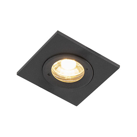 Modern recessed spot black IP44 - Xena Square