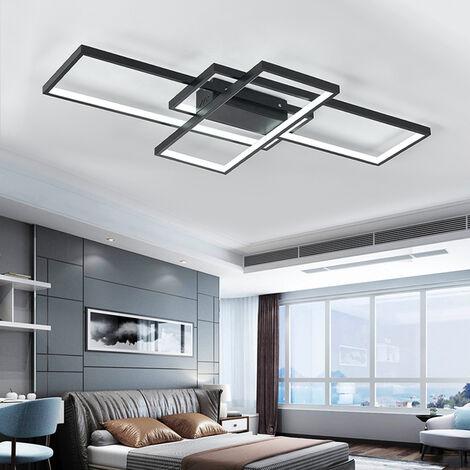 """main image of """"Modern Rectangle LED Chandelier Ceiling Light , 110CM Cool White"""""""