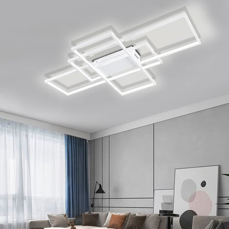 "main image of ""Modern Rectangle LED Chandelier Ceiling Light , 90CM Dimmable"""