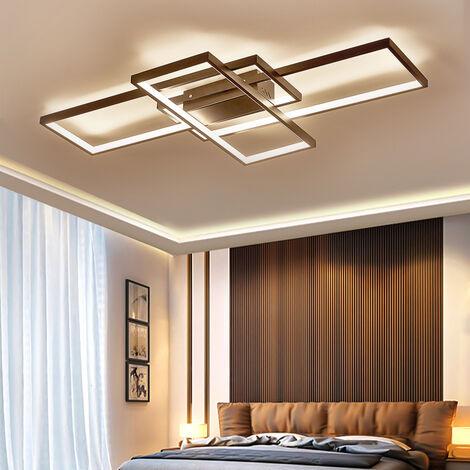 Modern Rectangle LED Chandelier Ceiling Light , 90CM Dimmable