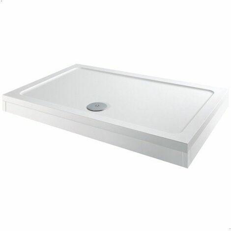 Modern Rectangle Shower Tray 1000 x 800mm Easy Plumb Slimline Lightweight White