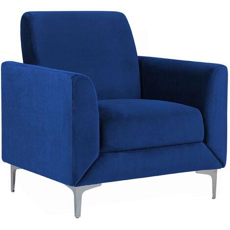 "main image of ""Modern Retro Upholstered Club Chair Armchair Velvet Fabric Navy Blue Fenes"""