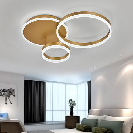 Modern Round LED Chandelier Ceiling Light , 3 Circle Dimmable