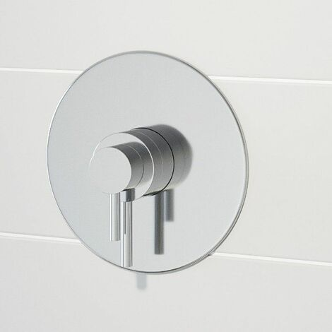 """main image of """"Modern Round Shower Valve Thermostatic Concentric Concealed/Exposed Chrome"""""""