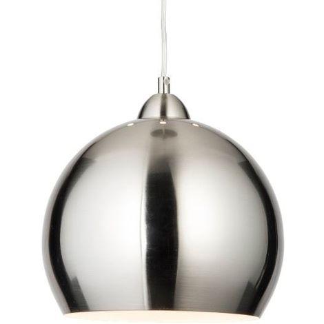 Modern Satin Chrome Globe Cafe Ceiling Pendant Light 76-020