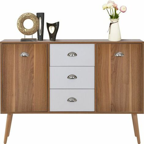 Modern Sideboard Cupboard with 3 Drawers 2 Doors, Storage Cabinet for living room and hallway