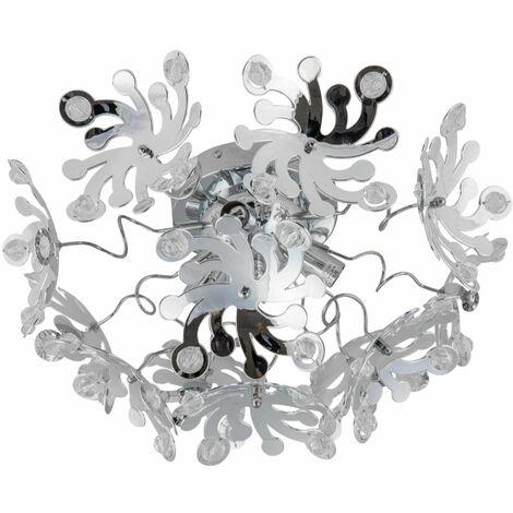 Modern Silver Chrome Semi Flush Ceiling Light Fitting Chandelier Bedroom Lounge