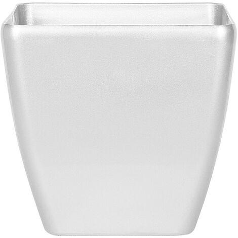 Modern Silver Clay Flower Pot Fibreglass Indoor Outdoor 50 x 50 x 48 cm Astras
