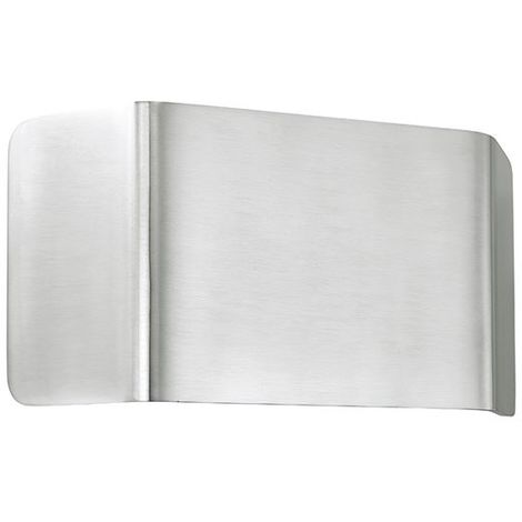 Modern Silver Verona 1Lt Wall Light 9W Warm White - Polished Aluminium