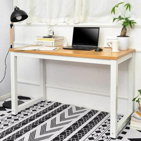 Modern Simple Design Computer Desk Table Workstation for Small Space Place Home Office Writing Table, (oak)
