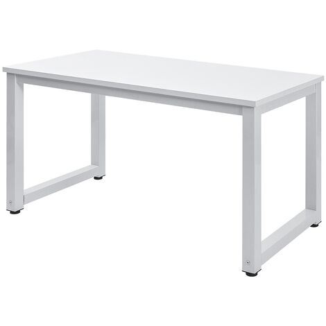 Modern Simple Design Computer Desk Table Workstation for Small Space Place Home Office Writing Table, (White)