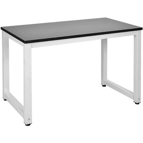 Modern Simple Style Computer PC Laptop Desk Study Table Workstation Home Office Writing Table for Small Space Place, (Black)