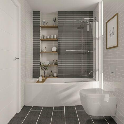 Modern Spacesaver Acrylic End Bath Panel White Gloss 800mm Bathroom Panel ONLY